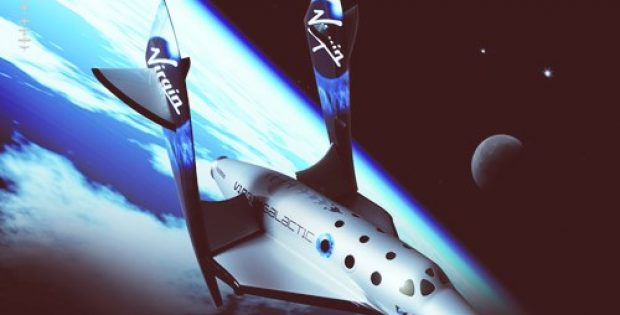 Virgin Galactic tourism rocket ship